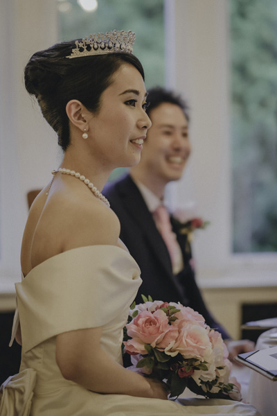 bespoke wedding dress and bolero