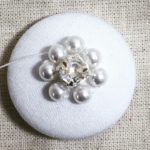 hand beaded button