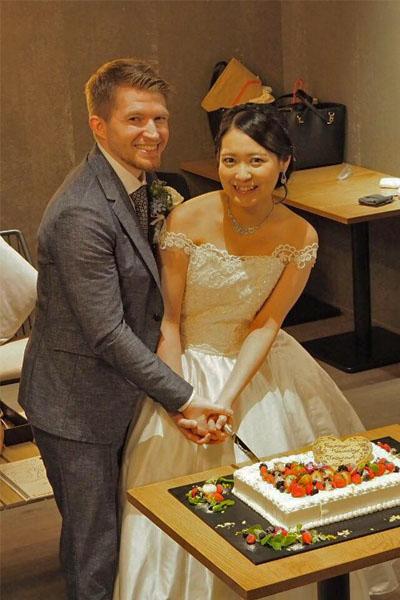 Mina's lace wedding dress